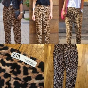 Zara cheetah trousers